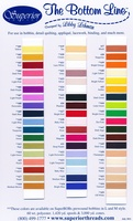 Bottom Line Polyester Thread Color Card