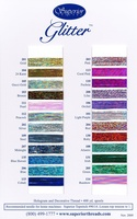 Glitter Color Card