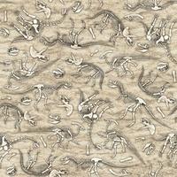 Quilting Treasures Jurassic Jungle Taupe