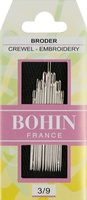 Bohin Embroidery Assorted Size 3/9 Hand Needles