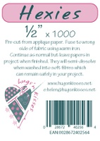 "Pre-Cut Iron On Hexies By Hugs' N Kisses (1/2"" X 1000)"
