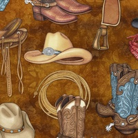 Quilting Treasures Unbridled Brown Multi
