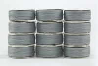 So Fine! #50 #408 Silver. L-style Bobbins. 1 Dz.