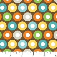 Northcott Multi Dots Brown