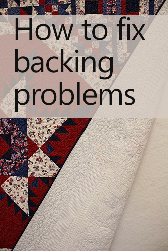 How to fix backing problems